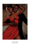Fantasy in Red Kunstdrucke von Monica Stewart
