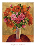 Fire Flowers Posters by Shelly Bartek