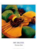 My Blues Print by Philemon Reid