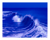 Blue Curl - Ocean City, Maryland Photographic Print by Debby WESTCOTT