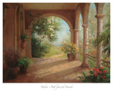 Path from the Veranda Print by Haibin