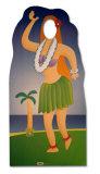 Hula Girl Lifesize Standup Silhouettes découpées grandeur nature