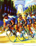 Victory on the Champs-Elysees Affiches par Malcolm Farley