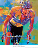 Lance Armstrong, Seven Times Tour de France Champion Prints by Malcolm Farley