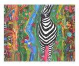 Zebra Giclee Print by Jerry Clovis