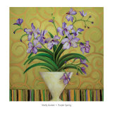 Purple Spring Posters by Shelly Bartek