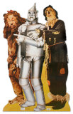 Lion, Tinman, And Scarecrow Cardboard Cutouts