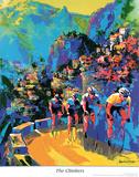 Ciclistas escalando Pôsters por Malcolm Farley