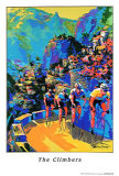 Ciclistas escalando Pôsteres por Malcolm Farley