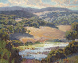 Golden Foothills II Art by Lois Johnson
