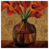 Orange Lilies Poster by Shelly Bartek
