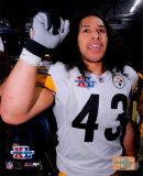 Super Bowl XL - Troy Polamalu Celebratation Photo