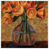 Golden Tulips Prints by Shelly Bartek
