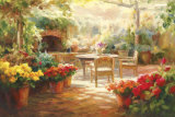 Shaded Patio Art by Roberto Lombardi