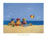 Three Ladies Sunning Poster by Michael Paraskevas