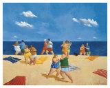 Tango Beach Poster by Michael Paraskevas