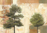 Parchment Trees I Prints by  Renbaum