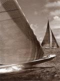 Sepia Sails I Poster par Cory Silken