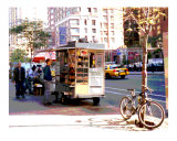 New York Abstract, Street Vendor Breakfast Photographic Print by DW labs