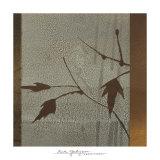 Umber Leaves Print by Linda Yoshizawa