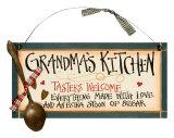 Grandma's Kitchen Znak drewniany