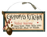 Grandma&#39;s Kitchen Wood Sign