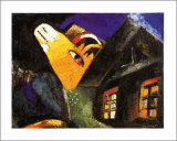 The Cowshed, c.1917 Posters van Marc Chagall