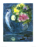 Lovers with Bouquet, c.1949 Posters van Marc Chagall