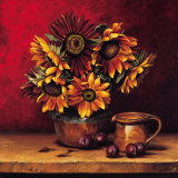 Sunflowers with Plums Art by Andres Gonzales