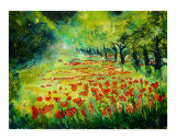 Red poppies 68 Giclee Print by Pol Ledent