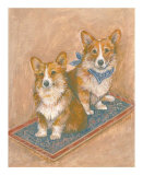 Corgis Art by Carol Ican