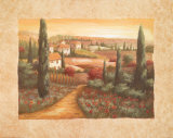 Tuscan Sunset I Art by Vivian Flasch