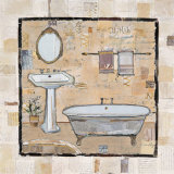 Vintage Bath Time I Prints by Katherine &amp; Elizabeth Pope