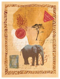 Travel Elephant Poster by Fernando Leal