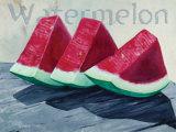 Watermelon Posters by Claire Pavlik Purgus
