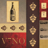 Vino in Red II Poster von William Verner