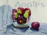 Apples Poster by Claire Pavlik Purgus
