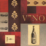Vino in Red I Prints by William Verner
