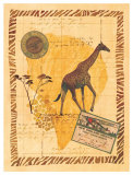 Travel Giraffe Print by Fernando Leal