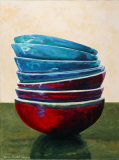 Balance of the Bowls IV Poster by Claire Pavlik Purgus