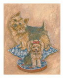 Terriers Print by Carol Ican