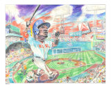 Big Papi (David Ortiz) Giclee Print by Padraic M. O'Reilly