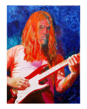 David Gilmour Again Giclee Print by Karen Yee