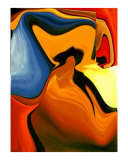Vivid Abstract 2 Giclee Print by Teo Alfonso