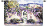 Wistful Wisteria Wall Tapestry by Betty Carlson
