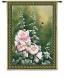 Hollyhock Hummer Wall Tapestry by Catherine Mcclung