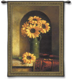 Sunflowers with Persian Rug Wall Tapestry by Loran Speck