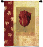 Tulip Bordeaux Wall Tapestry by Fabrice De Villeneuve