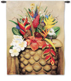 Tropical Flora Wall Tapestry by William T. Templeton