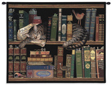 Max in the Stacks Wall Tapestry by Charles Wysocki